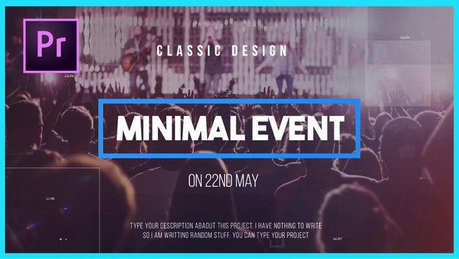 Minimal Event: Premiere Pro Templates