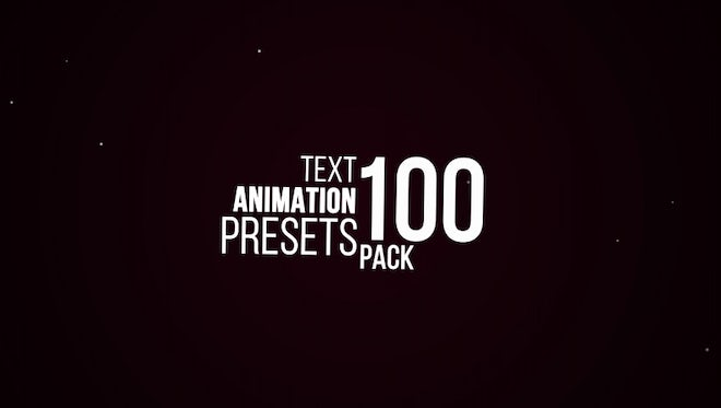 100 Text Animation Pack: After Effects Presets