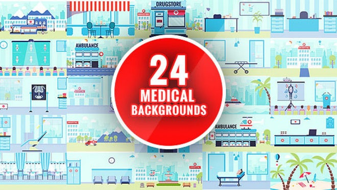 Flat Medical Background: After Effects Templates