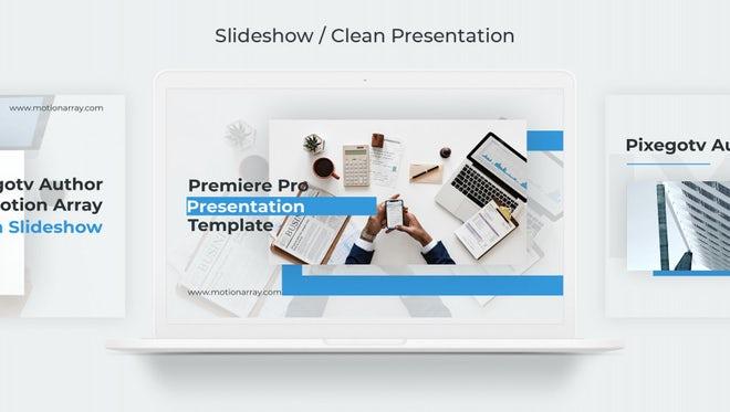 Slideshow / Clean Presentation: Premiere Pro Templates