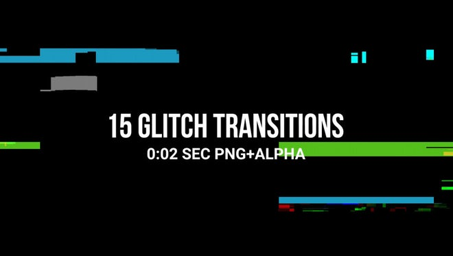 Dirty Glitch Transitions Pack: Stock Motion Graphics