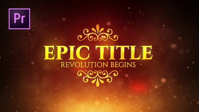 Epic Title: Motion Graphics Templates