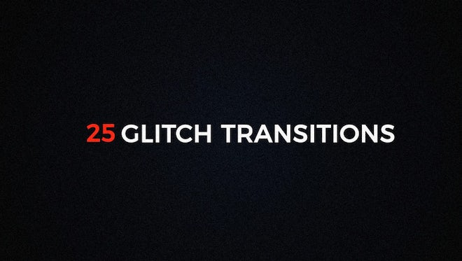 Glitch Transitions: After Effects Templates