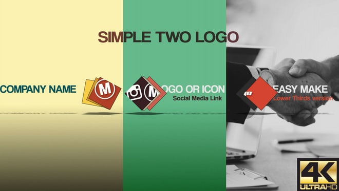 Simple Two Logo: After Effects Templates