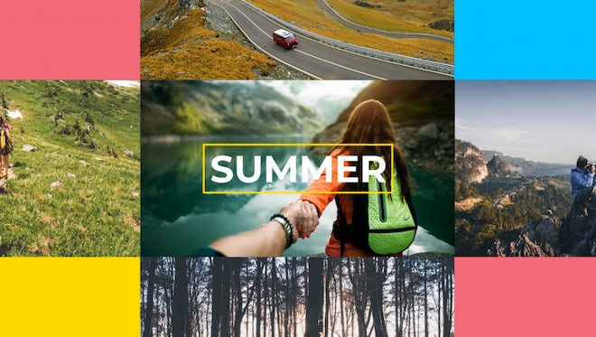 Summer Vacation Slideshow: After Effects Templates
