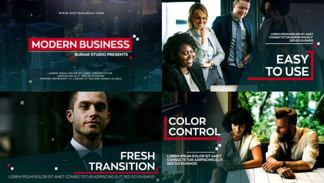 Modern Business : After Effects Templates