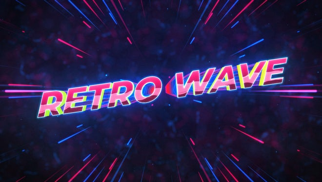 Free Retro Wave Intro Flat Design - After Effects Templates
