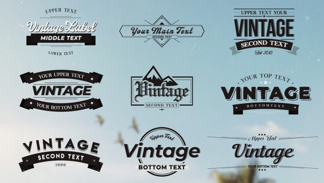 Vintage Labels 1 : Motion Graphics Templates