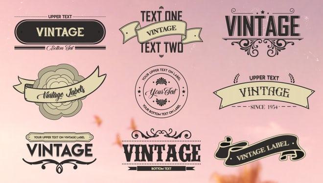 Vintage Labels 2: Motion Graphics Templates